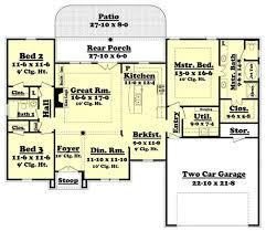 floor plan first story of acadian plan 142 1002