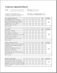 Performance Appraisal Template Free Simple Performance