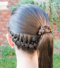 Low French Braid Pony Hair Vlasy Dětské účesy A účesy