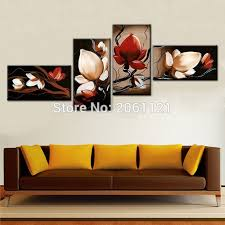 best sale dark red flower art canvas painting oil cheap wall art decor room pictures modern on cheap wall art canvas sets with best sale dark red flower art canvas painting oil cheap wall art