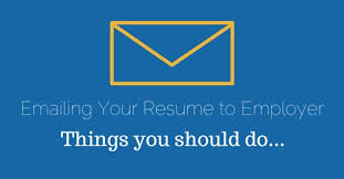 Emailing Your Resumes Emailing Your Resume To Employer Before While After Tips Wisestep
