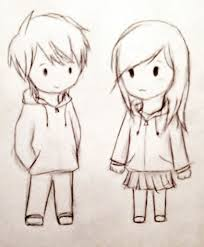 anime chibi couple drawing. Interesting Drawing A Cute Couple Sketches To Draw Chibi  Drawing U2013 Google Anime N