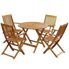 vidaxl outdoor dining set 5 piece