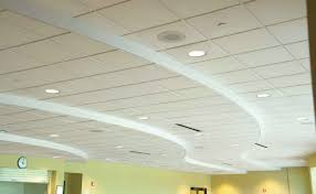 Pretty Bright Decorative Ceiling Tiles plus Circular Lamps Apropos to Green  Painted Wall