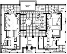 bali style house plans   TAL   Balinese style pool villas for    bali style house floor plans   Google Search