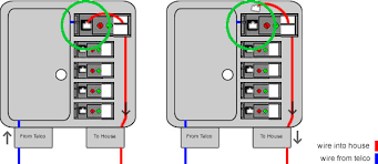 testing slow speeds wired tutorials internet help after opening the box locate the test jack that has a wire running to the house indicated in red in the diagram 2 unplug the cord that is connected to