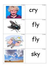 A wide range of printable puzzles that reinforce phonics skills. Word Picture Cards Containing Y As In Cry Phonics Esl Worksheet By Jenniferoz69