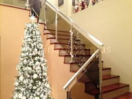 stainless steel glass railing square stairs upper post inline design glass stair railings glass stair railing stair railing