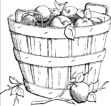 Small Picture Large fruit basket Coloring Pages for Kids