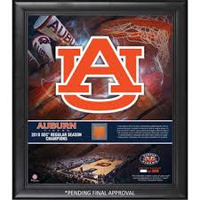 >auburn collectibles auburn tigers memorabilia auburn tigers fanatics authentic framed 15 x 17 2018 sec men s basketball regular season