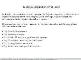 resume dispatcher logistics dispatcher cover letter in this file you can  ref cover letter materials for
