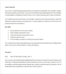 Samples Of Resumes For Highschool Students How To Make A Resume For A Highschool Student Easy Resume Templates