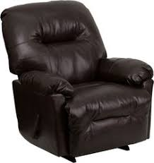 flash furniture bentley brown leather chaise rocker recliner