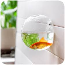 Small Picture Home Decoration Glass Vases Wall Hanging Decorative Vases Fish