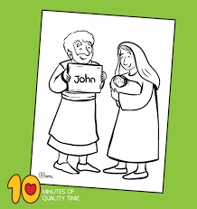► saint john the baptist as a boy (5 c, 5 f). The Birth Of John The Baptist Coloring Page 10 Minutes Of Quality Time