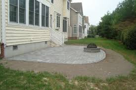 square paver patio with fire pit. EP Henry Village Square Paver Patio With Fire Pit / Pewter Blend E