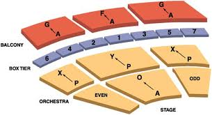 Detroit Opera House Seating Chart New San Diego Civic Center