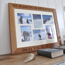 personalised oak photo collage frame