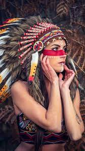 Red Indian Girl 4k iPhone Wallpapers ...