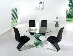 modern round glass dining table seats 8