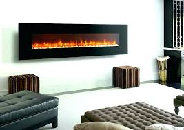 glass electric fireplace for insert with embers black wall mounted