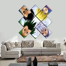 unframed anime hunter four friend wall art oil painting on canvas fashion textured paintings picture living room decor wall art picture anime hunter