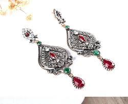 indian chandelier earrings earrings enamel paint bollywoodethnic chandelier earrings