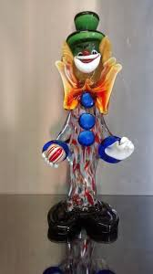 colourful murano glass clown with ball design franco toffolo