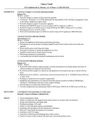 Z Vm System Programmer Resume System Programmer Resume Samples Velvet Jobs 1