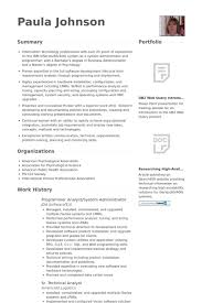 Programmer Analyst/System Administrator Resume samples