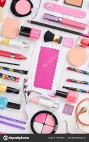 fashion cosmetic makeup set stock photo denisfilm 183184890