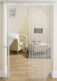glam white string curtain