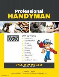 free handyman flyer template handyman flyer template free website wordpress download