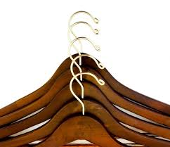 quality hangers wooden hangers beautiful sy suit coat hangers with locking bar gold hooks 5