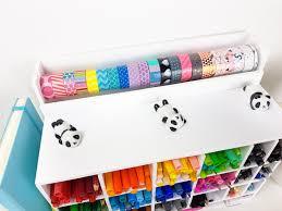 diy office supplies. diy-stationery-storage-washitape diy office supplies