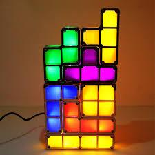 Buy Tetris Light Us 17 99 30 Off Diy Tetris Light 3d Puzzle Led Night Light Induction Interlocking Colorful Creative Kids Toys Block Night Lamp Retro Game Tower In