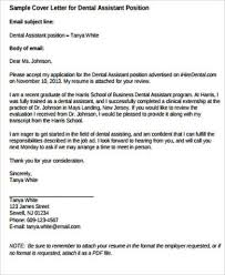 9 Sample Dental Assistant Cover Letters Sample Templates
