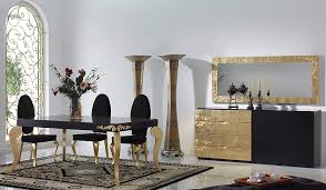 decorating your dining room. Exellent Room The Best Black And Gold Decorating Ideas For Your Dining Room  In Your
