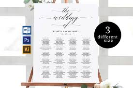 Canva Seating Chart Template Wedding Seating Chart Printable Seating Chart Tos_3