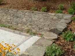 dry stacked stone wall