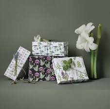 Recycled Flower Paper Giftwrapping Paper Flowers And Herbs Recycle 4 Sheets