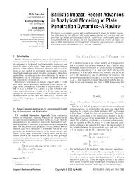 Dynamics impact mechanics penetration