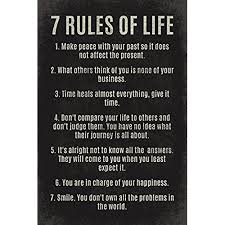keep calm collection 7 rules of life motivational poster print on inspirational business wall art with inspirational wall art amazon