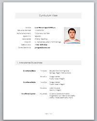 Formato De Curriculum Vitae Chile Word Artikel Terkait 20