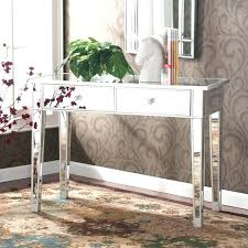 Entrance Table And Mirror With Regency Mirrored Console Vanity Desk Glam