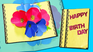Diy Kids Birthday Card Happy Birthday Pop Up Card Greeting Card Diy Craft For Kids