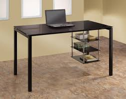 image of black desk with hutch