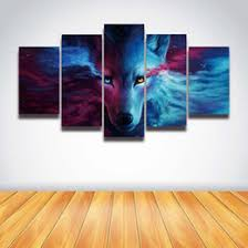 5 panel canvas wall art anime wolf painting hd prints modular picture for home decoration living room decorate bedroom on 5 panel wall art uk with shop wolf wall art uk wolf wall art free delivery to uk dhgate uk