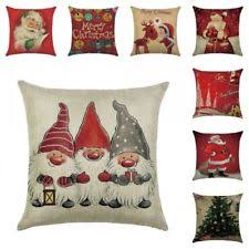 christmas pillows on sale. Plain Pillows Christmas Pillow Case Santa Cotton Linen Sofa Car Throw Cushion Cover Home  Decor On Pillows Sale R