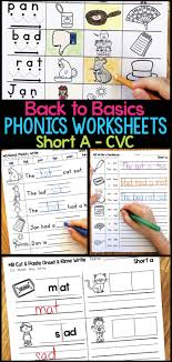 Get all these free phonics worksheets to help students become more comfortable with reading. Short A Phonics Worksheets Short A Cvc Words